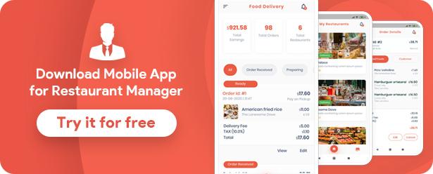 Flutter de livraison de nourriture + Panneau d'administration PHP Laravel - 18