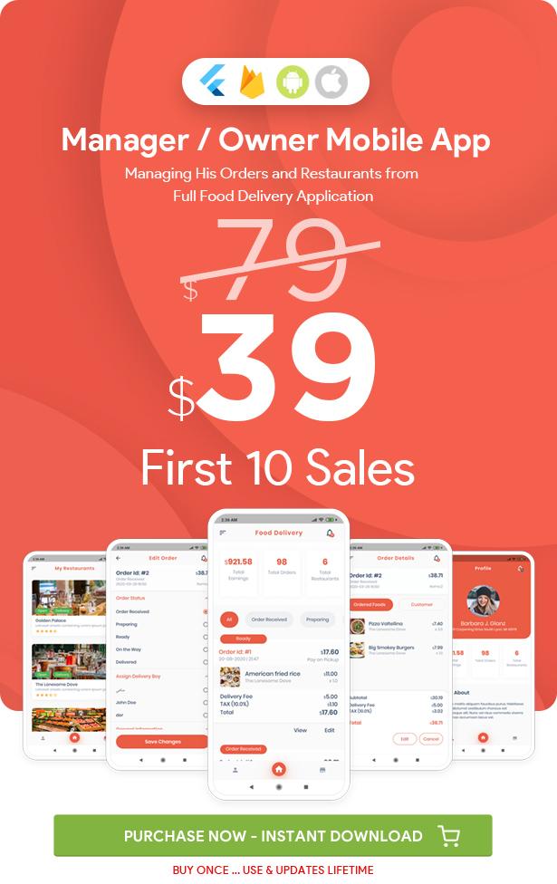Gestionnaire / Propriétaire pour Multi-Restaurants Flutter App - 2